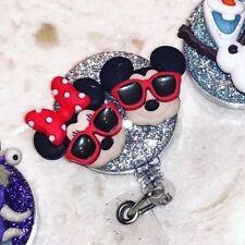 Disney Mickey Minnie Id Badge Holder Retractable Reel, New Nurse Gift, Doctor