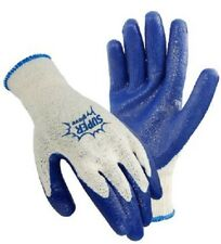 1 Pair Large Blue Rubber Coated Work GLOVES Spendless