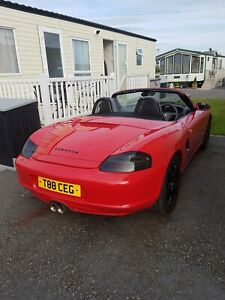 Porsche Boxster red 2004 2.7 manual 986 Service history lots of upgrades 65000
