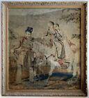 Antique Victorian Needlepoint of Queen Victoria's Children and John Brown, Horse
