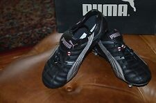 Puma Men's Panucca SG Black/Gray/Red Sports Shoes Spikes Studs US 5.5 NIB!