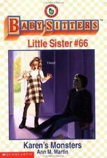 Karen's Monsters Baby-Sitters Little Sister, No.66