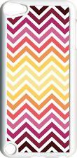 Multi Red Chevron Design on iPod Touch 5th Gen 5G White TPU Case Cover