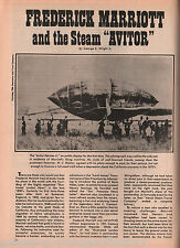 Frederick Marriott, And The Steam Aviator + Genealogy
