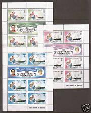Zil Elwannen Sesel SG RW18 Royal Wedding Souvenir Sheets w/ SPECIMEN overprints