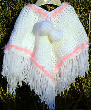 Pretty Baby & Child Poncho Crochet PATTERN. Stylish and Gorgeous. Covers 4 Sizes