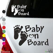 Baby on Board Aufkleber Kind an Bord Füße Kids Sticker 10 x 16 cm viele Farben