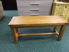 New Solid Oak Wood Dining Table Bench RRP £279
