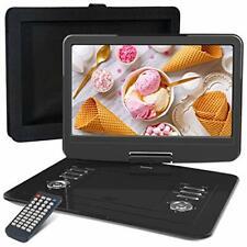 WONNIE 15.5 pulgadas reproductor de DVD portátil con pantalla giratoria de 270, construido en 4 horas
