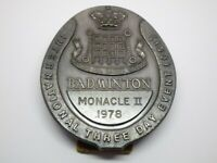 Vintage 1978 Monacle II Badminton Badge Medal Award International Metal