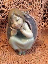 Lladro 5148 School Girl O Olivia Mint Condition! No Box! Rare! L@K!
