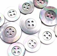 MOP Shell Button 15/20mm Grey Rainbow Mother of Pearl Natural Suit Set Tailor