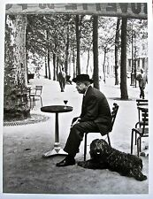 Robert Doisneau Prevert at a Cafe Table 1955 13 X10 Photo Reprint