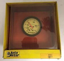 "Autometer Phantom Electrical Boost/Vacuum Gauge 2 5/8"" Dia White Face 5877 NEW"