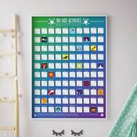 100 Kids Activities Bucket List Poster - Scratch Off Plaque Things To Do