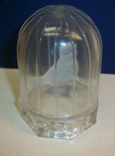 Vintage Art Glass Bird in Glass Cage or Dome - Hofbauer