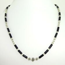 Necklace natural black onyx gemstone jewelry semi precious stone beads jewelry