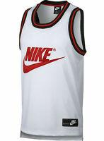 Nike Sportswear Mesh Basketball Jersey White Red CT5605-100 Men's Size M, L NEW