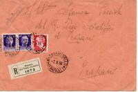 storia postale regno varietà tariffa errata raccomandata da mazara a trapani
