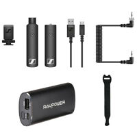 Sennheiser XSW-D Portable Interview Set w/ RAVPower 6700mAH Charger & Strap 10pk