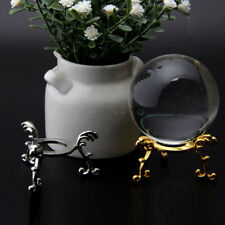 Metal Crystal Ball Stand Leg Elegant Sphere Holder Gold/Silver Engraved