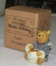 Boyds Collection Pooh Bear's Winter Holiday Ornament New