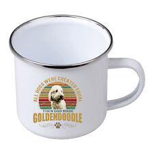 Hunde Emaille Tasse Becher Golden Doodle Dog Tiermotiv Rasse