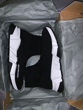Auth Balenciaga Women Speed Black Sock Trainer Triple S Track Runner Sneakers 38