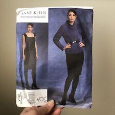 VOGUE American Designer ANNE KLEIN Dress Sewing Pattern #V1123 UNCUT 6-8-10-12