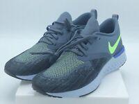 Nike Mens Odyssey React Flyknit 2 Armory Blue/Lime Blast/Black 12 M