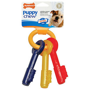 Nylabone Puppy Teething Keys (3 sizes)  XSmall (Free Shipping in USA)