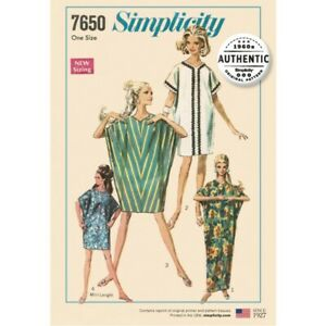 Simplicity Sewing Pattern 7650 Misses' Vintage Caftan Dress