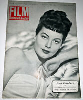 28 Year Old Ava Gardner on Cover Film Illustrated Monthly  1950 British  Sinatra