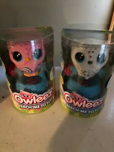 2 Owleez, Flying Owl Interactive Toy. White and Pink