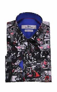 Mens Claudio Lugli Couture Mods & Rockers Print Shirt CP6623