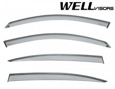 For 17-Up Honda CR-V CRV WellVisors Side Window Visors with Chrome Trim