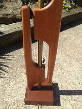 Mid Century Eames Era Walnut Sculpture Table Lamp