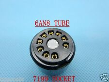 2piece*Gold plated 6AN8(adapter top) instead 7199 tube converter adapter