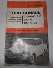 Ford Consul Classic,Capri,GT,Hooper 109E/116E Olyslager Motor manual