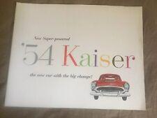 1954 Kaiser Manhattan e Speciale Supercharged Colore Brochure Catalogo Prospekt