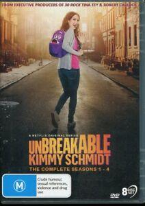 Unbreakable Kimmy Schmidt Complete Season 1 - 4 One to FOur DVD NEW Region 4
