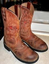WOMENS 9 B Dark Brown ARIAT Fatbaby # 16709 Saddle Vamp WESTERN BOOTS