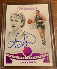 2018-19 Flawless Larry Bird Enshrined Signatures On-Card Auto #5/20 Celtics HOF