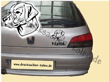 Labrador Retriever - Hundemotiv - Autoaufkleber mit Wunschname in Wunschfarbe