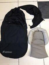 maxi cosi car seat footmuff, hood and insert