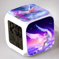 Reveil cube led lumière nuit alarm clock ange personnalisé prénom  réf 01