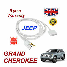 JEEP GRAND CHEROKEE MULTIMEDIA ADAPTER iPhone 3GS 4 4S iPod USB Aux Cable white