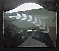 "Chandelier 7-1/2"" Cut Glass Panel Branch Twig w/ Leafs Swag Pendant Lamp Antique"