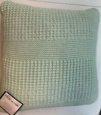 "Charter Club Damask Designs Multi Knit Green Square 20"" X 20"" Decorative Pillow"