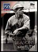2019 TOPPS 150 YEARS BABE RUTH BOSTON RED SOX #150-102